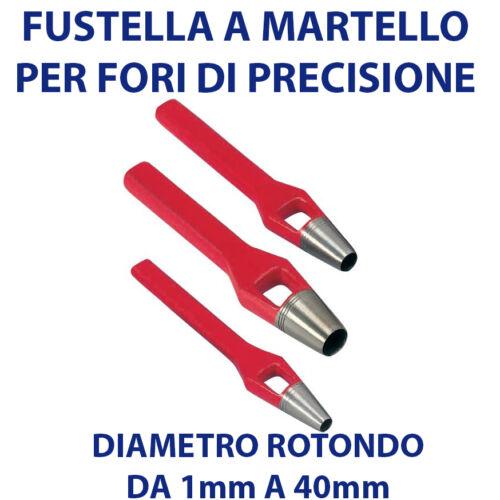 FUSTELLA PROFESSIONALE IN FERRO PER FORI DI PRECISIONE SU PELLE TESSUTO E PVC