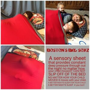 ALL-SIZE-WEIGHTED-BLANKET-ALTERNATIVE-COMPRESSION-SENSORY-LYCRA-BED-SHEET