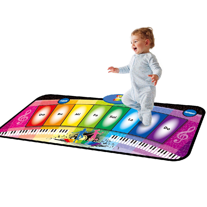 Kids musical électronique Rainbow Piano Clavier Tapis de Jeu Jouet Musique Dance Party