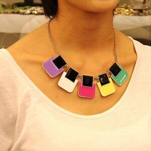 Collar-Art-Deco-Carr-Esmalte-Multicolor-Negro-Blanco-Amarillo-Original-Noche-KS