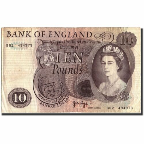 #570621 Great Britain, 10 Pounds, undated 19651975, KM376c, VF2025