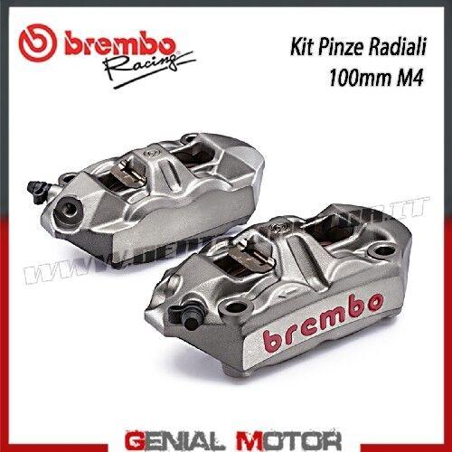 KIT pinzas Freno Radial Brembo Racing M4 Izq Dcha monob 100 mm Pastillas Titanio