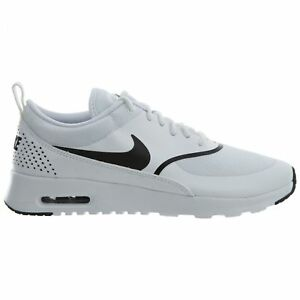 Nike Air Max Thea Womens 599409-108 White Black Textile Running ... 678f71360