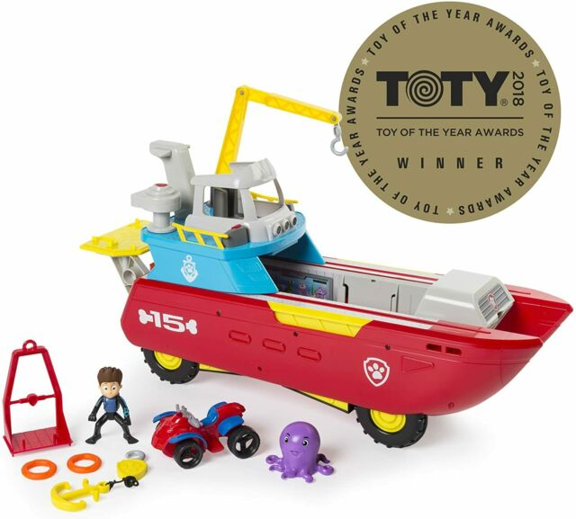 PAW Patrol Sea Patrol - Sea Patroller Transforming Vehicle With Lights And Ages