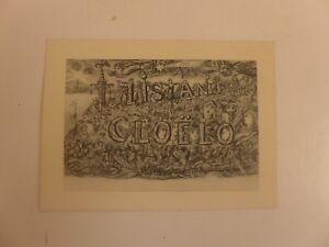 Carte De Visite Ancienne TRISTAN CLOELO Gravure