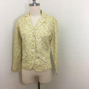 Vintage-60s-Calico-Floral-Blazer-Size-Small-Medium