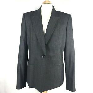 Austin Reed Women S Wool Mix Tailored Charcoal Blazer Office Jacket Szuk14 New Ebay