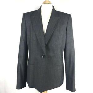 Austin Reed Women S Wool Mix Tailored Charcoal Blazer Office Jacket Szuk14 New Ebay