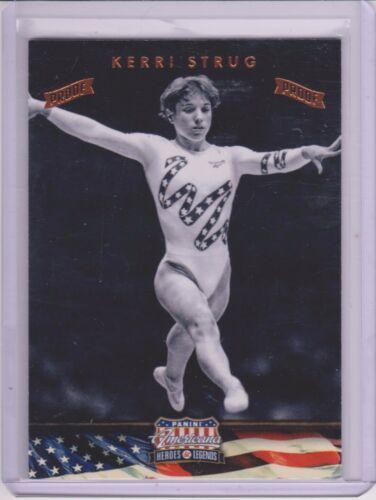 "2012 PANINI AMERICANA KERRI STRUG /""PROOF/"" CARD #67 ~ //100 ~ OLYMPIC GYMNASTICS"