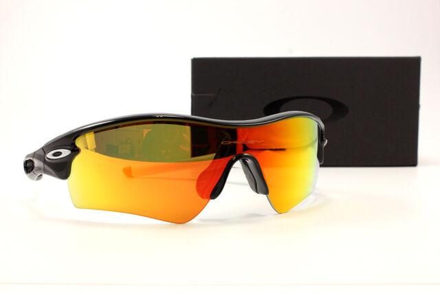 13626eb386e OAKLEY MPH Radar Path 009051-1433 Polished Black Sunglasses Fire Iridium  Lenses