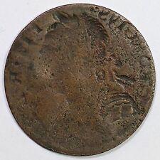 British Imitation George III Full Brockage Half Penny 1/2p