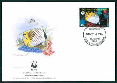 Micronesia Schmuck-fdc 1997 Wwf Fauna Fische Tropical Fish Pesce Peche Em05