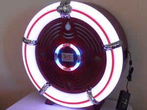 Large Retro Ball Reproduction JUKEBOX AM/FM Radio USB, SD Card, Blutooth