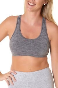 221da33617 Image is loading Women-039-s-Racerback-Seamless-Removable-Padded-Sports-