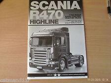 Tamiya 56318 1/14 Scania R470 Truck Instruction Build Manual