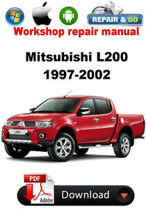 mitsubishi l200 1997 2002 factory workshop repair manual ebay rh ebay com mitsubishi l200 user manual pdf mitsubishi l200 owners manual pdf