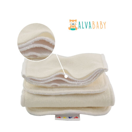 ALVABABY One Size Reusable Washable Cloth Diapers Pocket Nappy Insert U Pick