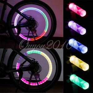 2x-LED-Bike-Bicycle-Car-Motorcycle-Wheel-Tyre-Light-Tire-Valve-Neon-Dust-Cap-NEW