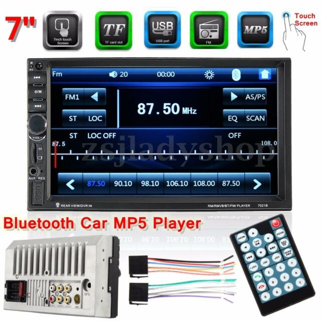"""Double 2 Din 7"""" HD Touch LCD Screen Bluetooth Car Stereo Audio MP5 Radio Player"""