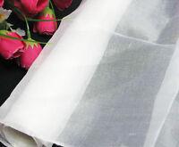 1 Yard 100%  Pure Silk Organza Fabric Material Bright White Transparent Sheer
