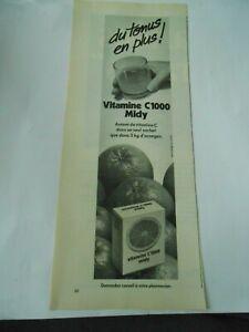 Publicite-de-Presse-1966-Du-Tonus-en-plus-Vitamine-C1000-Midy