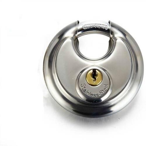 2 X Vorhängeschloss Einzigartig Diskusschloss Edelstahl Schloss 69mm Silber DHL