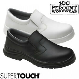Nurses-Medical-Food-Hygiene-Catering-Slip-On-Safety-Shoes-Steel-Toe-Cap-S2-SRC