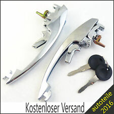 2x Neu Türgriff mit Schloss & zwei Schlüsseln für VW Käfer Cabriolet 113837205M