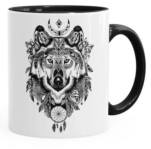 Café-taza Wolf atzekenmuster Boho bohamian atzec animal ethno autiga ®