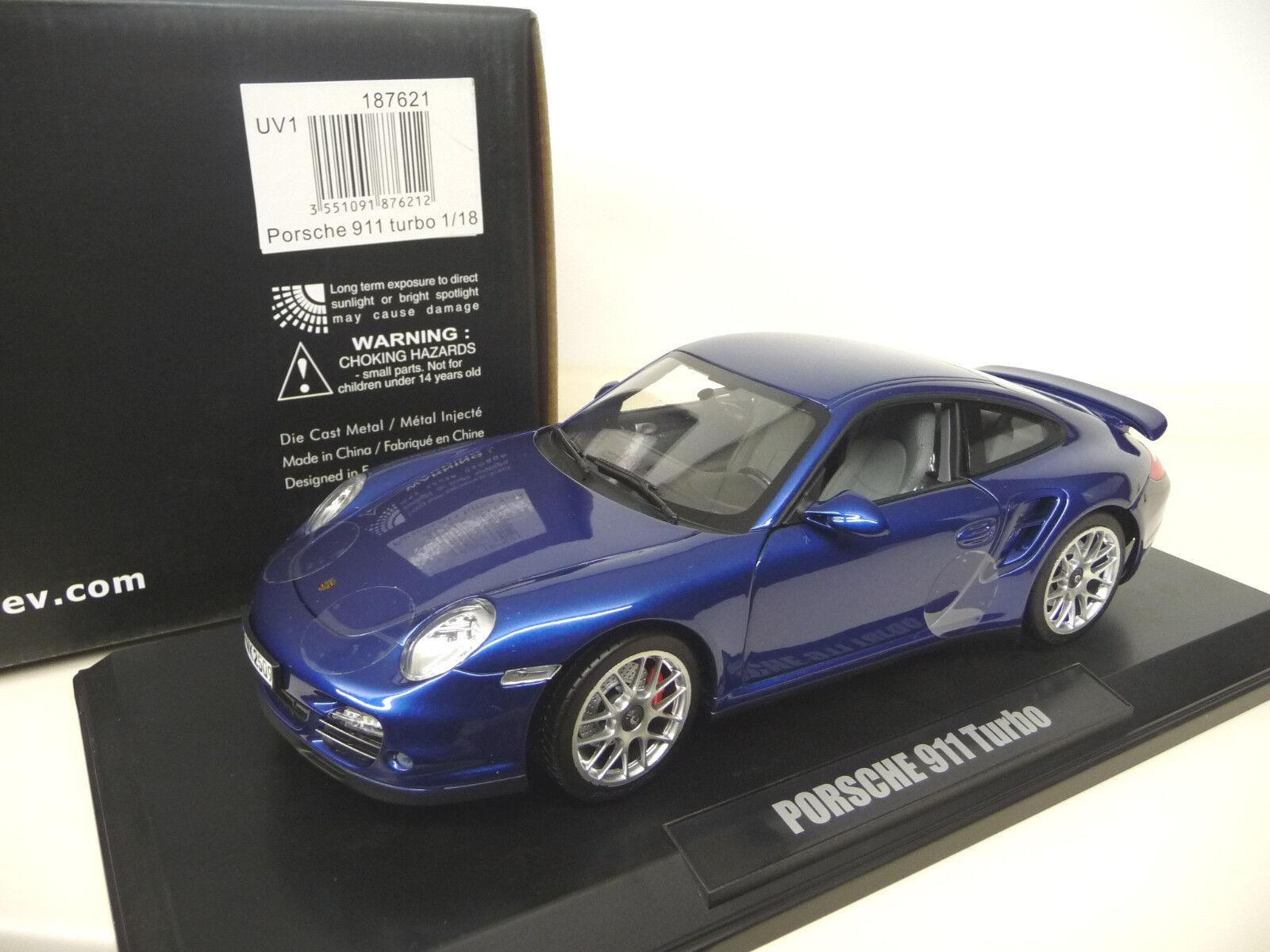 Norev 1 18 Porsche 911 997 turbo aqua bluee  SHIPPING FREE WORLDWIDE