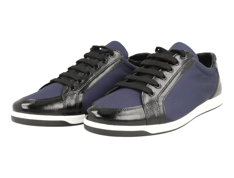 zapatos zapatos zapatos PRADA SAFFIANO LUXUEUX 3E5892 BALTICO NOUVEAUX 38 38,5  de moda
