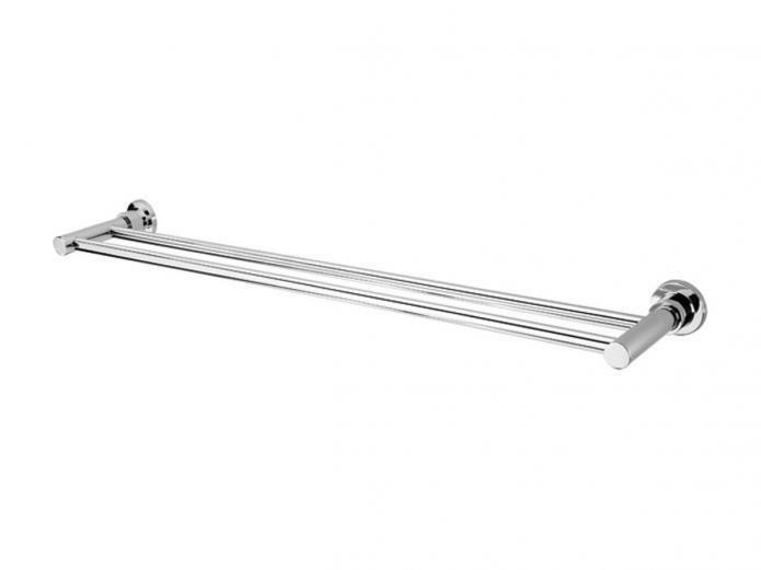 Phoenix GEN X DOUBLE TOWEL RAIL 760mm Wall Mounted, Brass CHROME Aust Brand