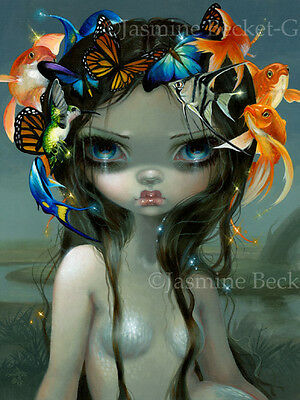 Jasmine Becket-Griffith art print surreal mermaid SIGNED Crown of Air and Water