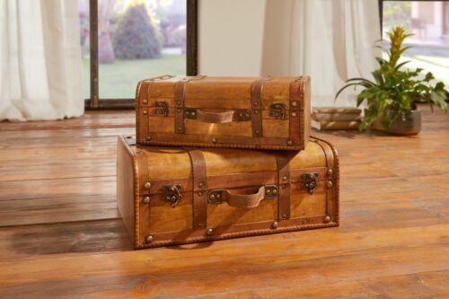 """DECO-valise /""""Colonial/"""" 2er Set coffre aufbewaren habitent ordre"""