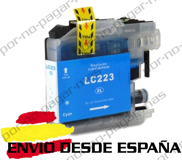 1 CARTUCHO COMPATIBLE CIAN NonOem BROTHER LC223 MFC-J5625DW MFCJ5625DW