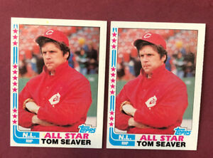 1982-Topps-TOM-SEAVER-Baseball-Card-346-Reds-Lot-of-2-Free-Shipping