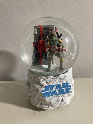 RARE Star Wars Christmas Holiday Snow Globe Boba F