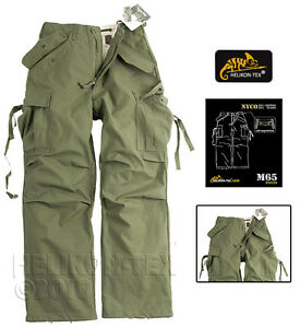 HELIKON-GENUINE-U-S-M65-ARMY-TROUSERS-OLIVE-GREEN-CARGO-MENS-COMBAT-PANTS