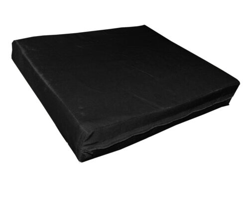 mo80t Black Shimmer Velvet Style 3D Box Thick Sofa Seat Cushion Cover*Custom