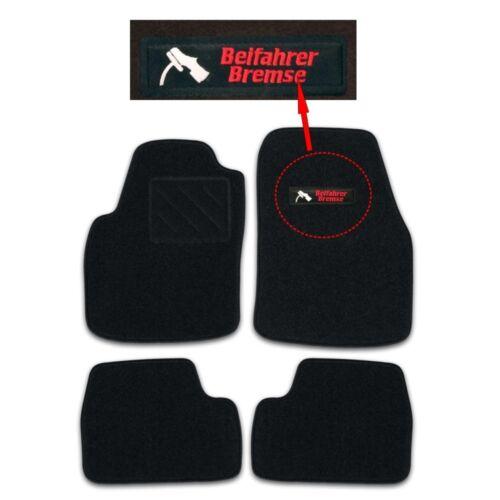 RAU Fußmatten schwarz BEIFAHRERBREMSE Nissan Primera P12 Flh//Lim//Kombi Bj ab 03