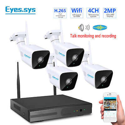 Eyes.sys 4-channel POE NVR HDMI 1080P 4x 2MP Audio H.265 Camera  CCTV SYSTEM US