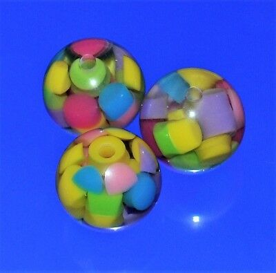 20 mm great block inclusion resin beads option for colours round