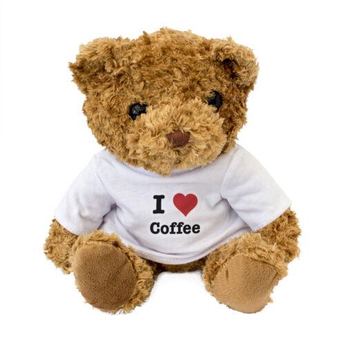 I LOVE COFFEE Gift Present Birthday Xmas NEW Teddy Bear Cute And Cuddly