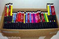 Bulk Lot Of 500 Misprint Plastic Retractable Thick Pens (no Clips)
