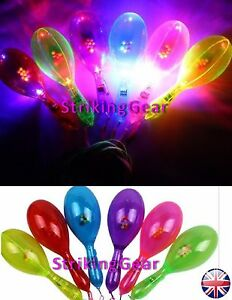 2-X-LED-Light-Up-Flashing-Maracas-Sensory-Shaking-Toy-Party-6-Colours-SG-UK
