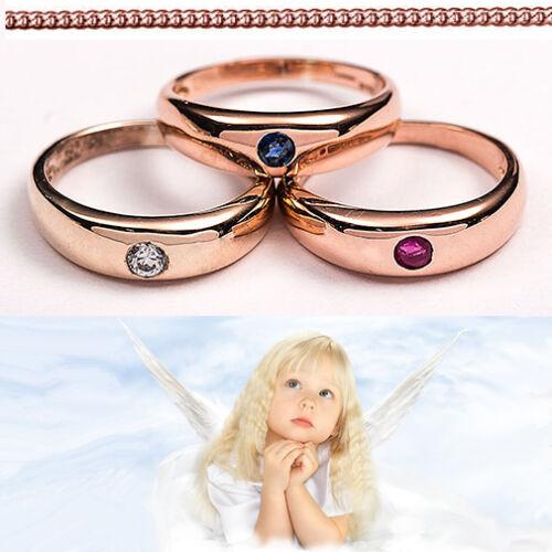 Juwelier Taufring für Mädchen oder Jungen mit Kette Echt Silber 925 Rosè Gold