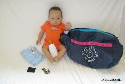 RealCare RealityWorks Doll MALE Blue Oufit BTIO Baby think it over ONE USED