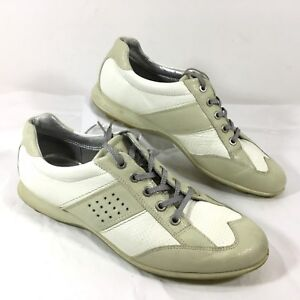 36430890 Women's ECCO Hybrid Spikeless Golf Shoes White Patent leather Sz 40 ...