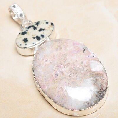 12ct Pink Rhodochrosite In 925 Silver Pendant #65090