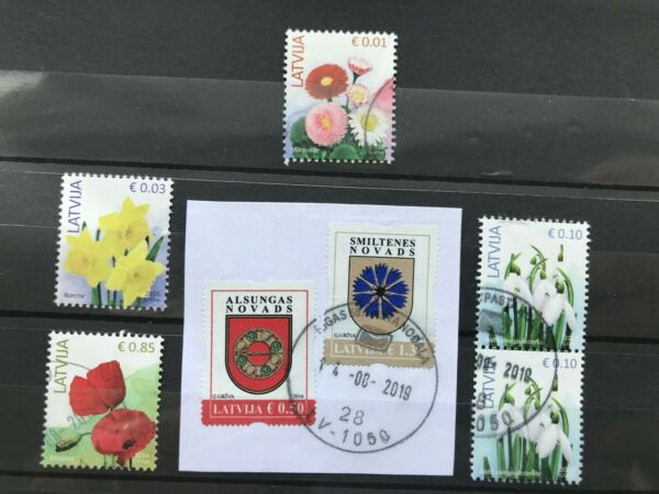 FidèLe La Lettonie Latvija 7 Used Stamps, 2 Sur Papier Voir Photo! Moins Cher
